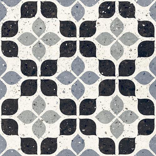 Belluci Nero Petal  Black Blue Terrazzo Porcelain Tile Burlington Design Gallery Dallas Ann Sacks