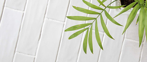 WHite Hand made Brick porcelain tile book Dal tile Dallas Design District Amara