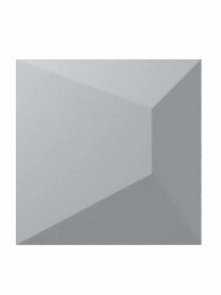 Nilo Ash Grey Matte Burlington Design Gallery Ceramic 3D Tile Bar