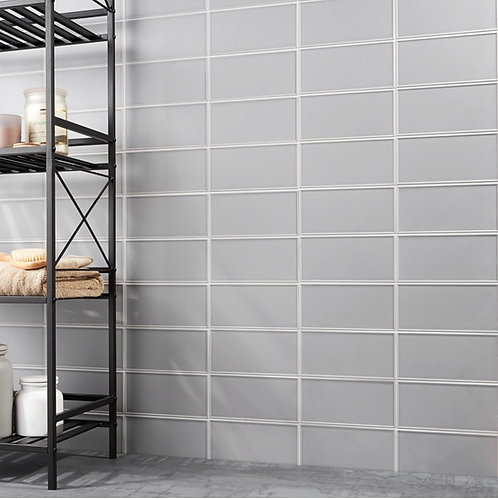 Stacy Garcia Grey Frame Cool Gray Ceramic Wall Tile Burlington Design Gallery Irving TX