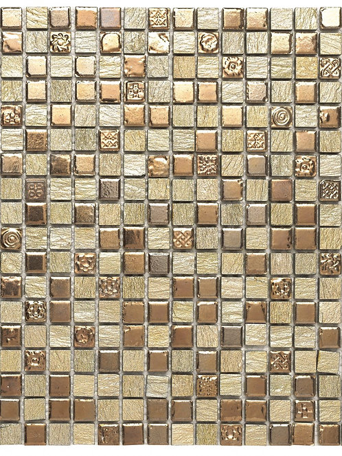 Thea Gold and Bronze Wall Tile Burlington Design Gallery