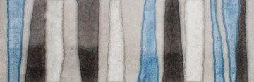 Glassy Ceramic Tile, Blue, Beige, Grey, White