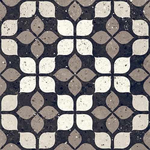 Belluci Nero Petal  Black Nude Terrazzo Porcelain Tile Burlington Design Gallery Dallas Ann Sacks