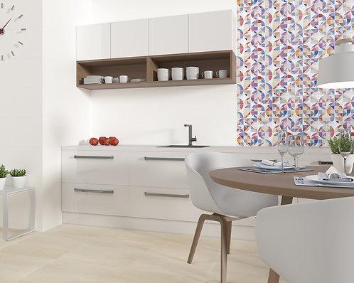 Metamorphosis Mix Color Abstract Ceramic Wall Tile, Bedrosian Tile