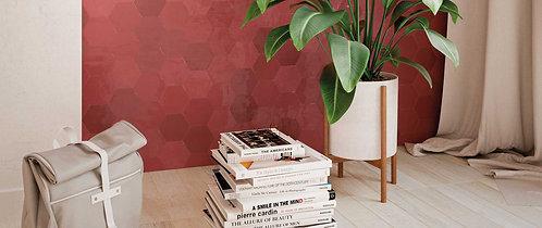 Red Porcelain Ceramic Tile Hexagon Ann Sacks Dallas