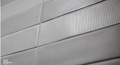 Grey Assorted Gloss Ceramic Tile Artistic Tile Dallas