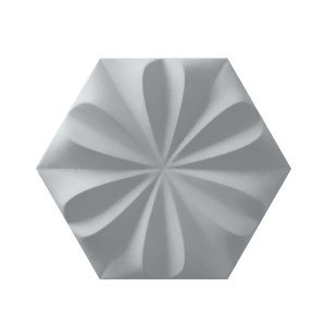 Fiore Ash Grey Matte 3D ceramic Tile Burlington Design Gallery