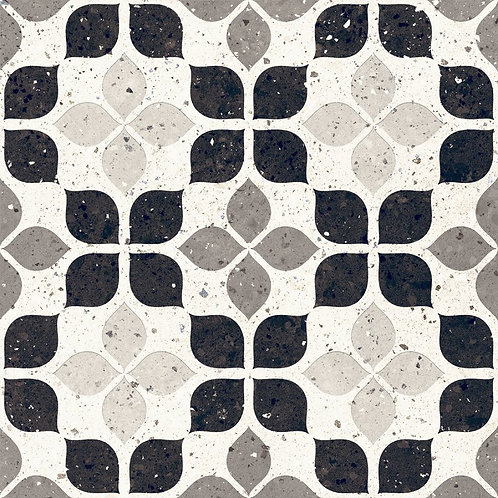 Belluci Bianco Petal  Black Nude White Terrazzo Porcelain Tile Burlington Design Gallery Dallas Ann Sacks
