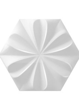 Fiore Ice White Matte Burlington Design Gallery 3D Flower