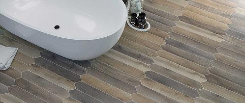 Brown Wood Look Porcelain Crayon Floor Tile Dallas Texas