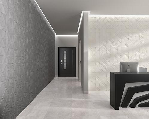Porcelain Tile, White Clay Abstract Hipster Fancy Tile, Ann Sacks Dallas