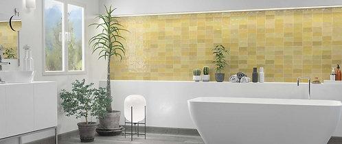 Yellow Mustard Gloss Wall Ceramic Daltile Dallas