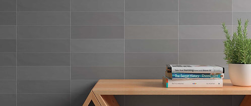 Grey Matte Ceramic Wall Tile Ann Sacks Dallas