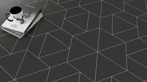 Ann Sacks Tile Dallas Black Triangle Floor Porcelain