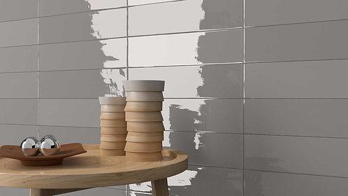 Grey Gloss Wall Tile DalTIle Dallas