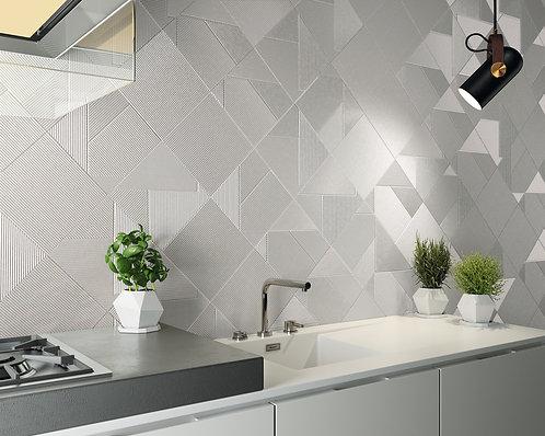 Stripped Mix Glacier White Tile Kitchen Back Splash, Southlake, TX
