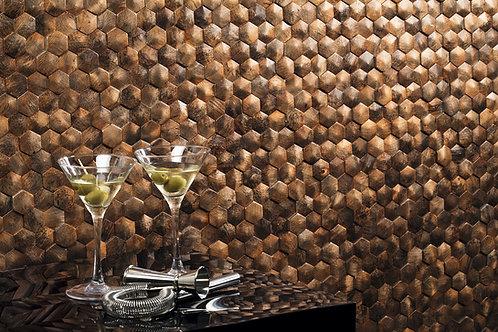 Beautiful Bronze Hexagon Mosaic Tile in California
