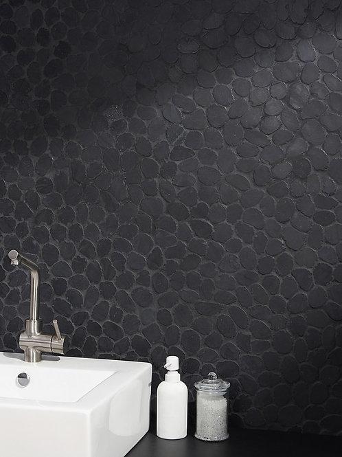Earthstone Round Pebble Alor Black Mosaic