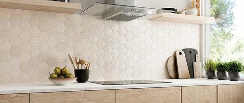 Nude Polished Ceramic Hexagon Tile Ann Sacks Dallas
