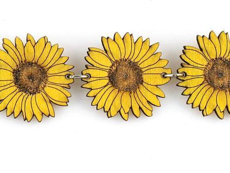 Detailed Sunflower Bracelet 7520