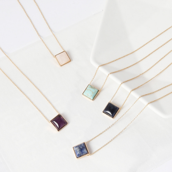 Square Drop Necklace