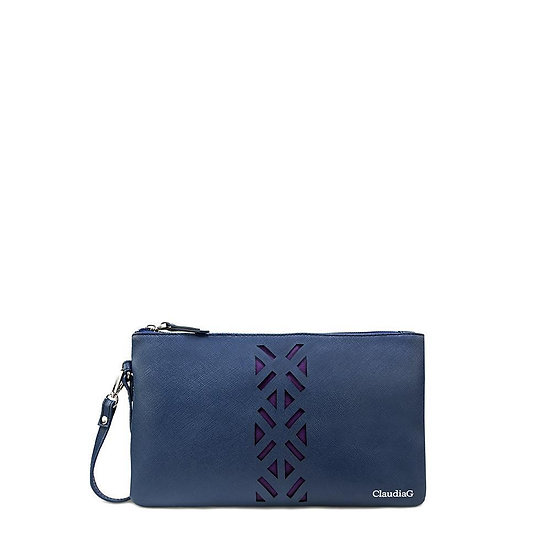 Leather PractiPouch Large - Sapphire