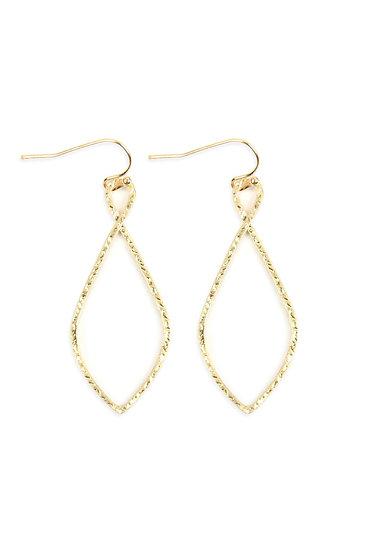 Hde2648 - Cast Christian Symbol Hook Drop Earrings