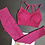 Thumbnail: Ketana Seamless Sports Bra With Cutouts in Burgundy