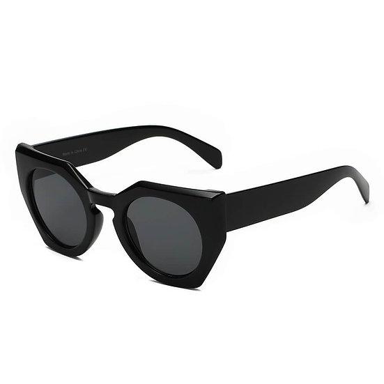 BERGEN | S1070 - Women Geometric Round Cat Eye Sunglasses