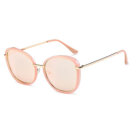 BROOKVILLE | S2003 - Women Round Cat Eye Oversize Sunglasses