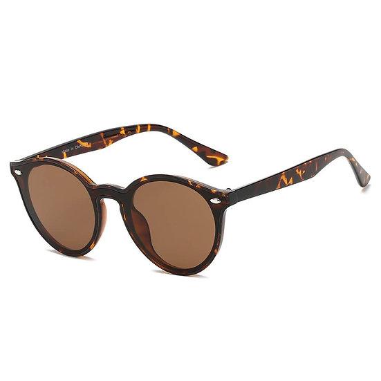 CROSBY   S1100 - Unisex Fashion Retro Round Horn Rimmed Sunglasses