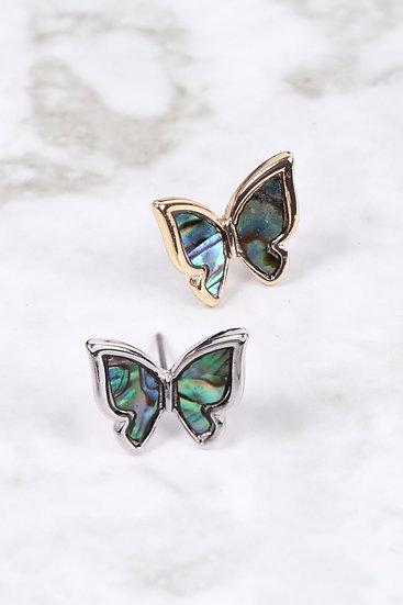 26978 - Abalone Butterfly Post Earrings