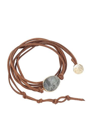 Hdb3118 - Stone Charm Multi Strand Wrap Bracelet