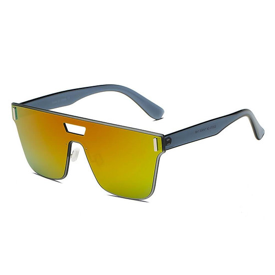 DEVON   S2075 - Unisex Retro Square Mirrored Sunglasses