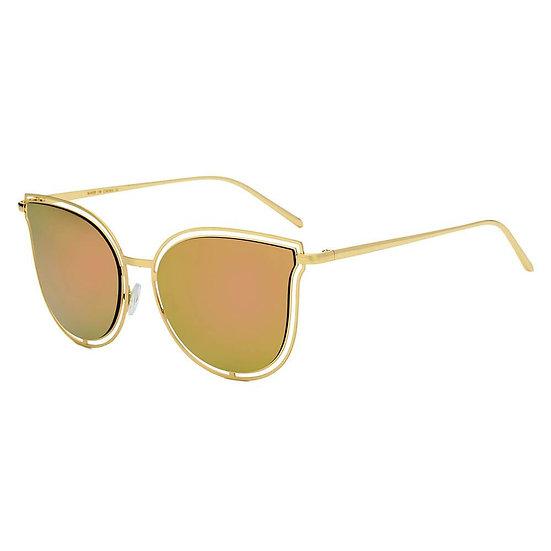 DUNDEE | S2048 - Women Round Cat Eye Fashion Sunglasses