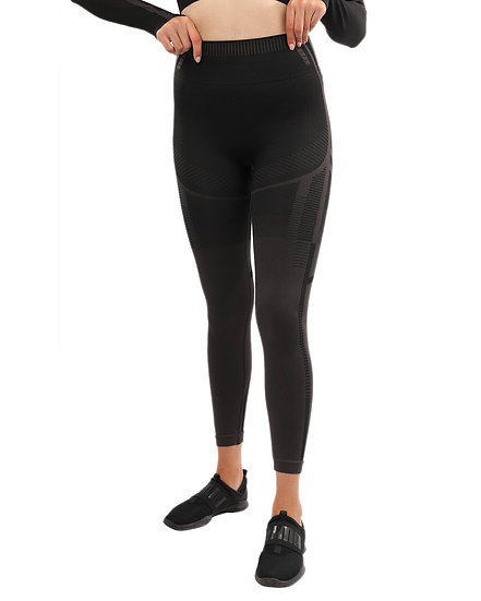 Decata Seamless Leggings - Black & Brown