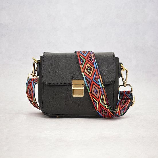 Tiny Leather Crossbody -Black (Option 2)