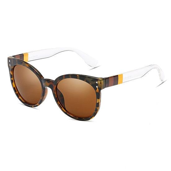 HYANNIS   E07 - Jaunty Mirrored Lens Soft Cat Eye Sunglasses