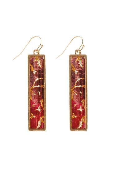 Ce3384 - Semiwood Flake Hook Bar Earrings