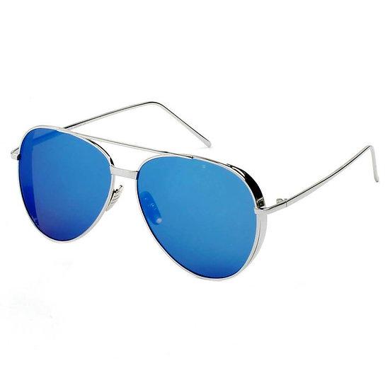 DELAN   CD12 - Premium Mirrored Lens Oversize Aviator Sunglasses