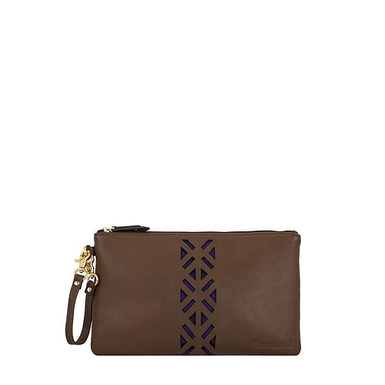Leather PractiPouch Large - Sienna
