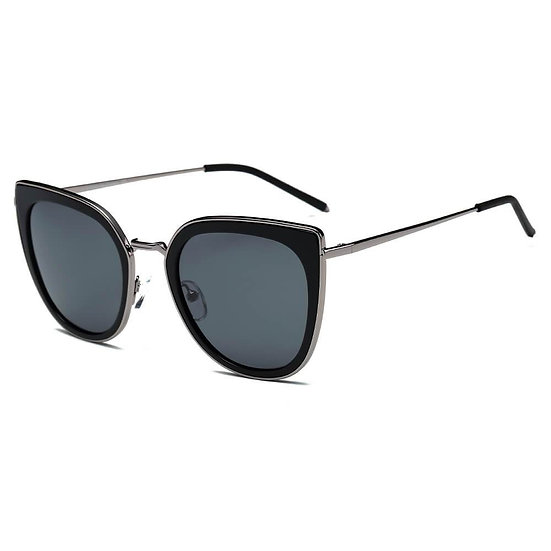 SASKIA | CA11K - Womens Polarized Cat Eye Fashion Rim Sunglasses