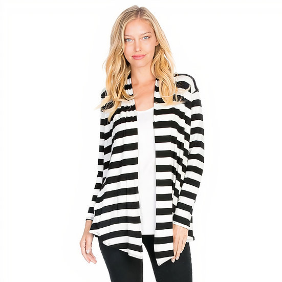 Stripe Cardigan -Black