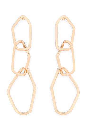 Distort Chain Dangle Drop Earrings