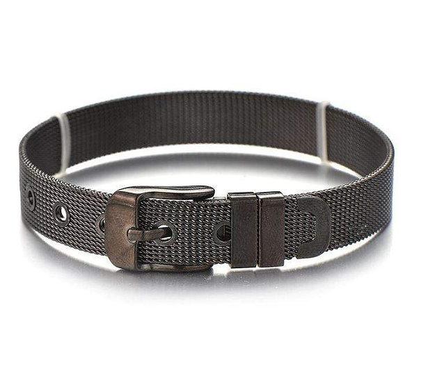 Stainless Steel Slider Bracelet -Black