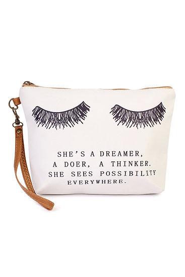 """""""She's a Dreamer"""" Cosmetic Bag"""