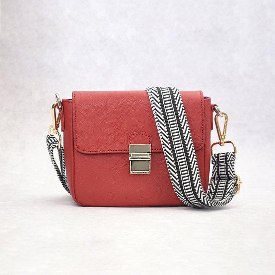 Tiny Leather Handbag -Cabernet (Option 1)