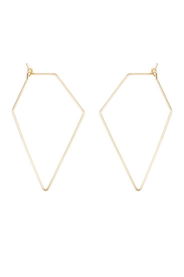 Hde1852 - Polygon Shape Brass Earrings
