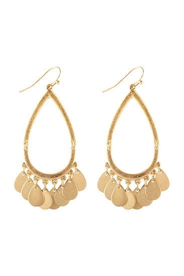 Pe3575 -  Metal Open Cut Earrings