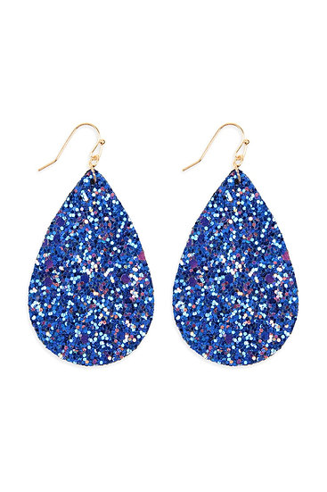 Hde2560 - Sequin Teardrop Earrings